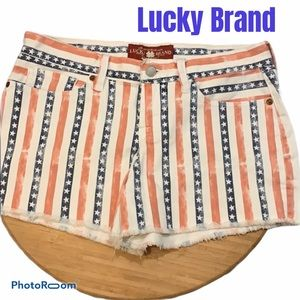 Lucky Brand Red White & Blue Shorts Size 00